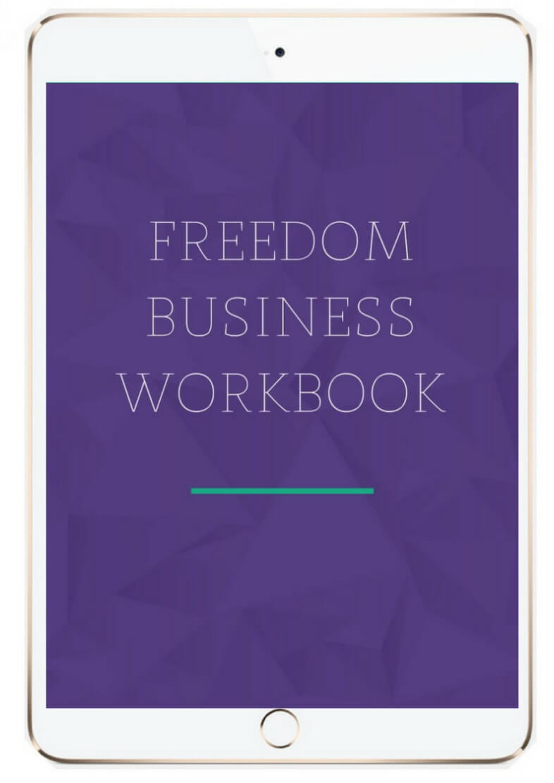 freedom business workbook mockup image