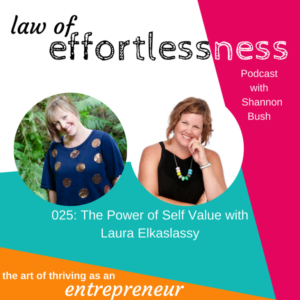 Law of Effortless Podcast Shannon Bush - Power of Self Value