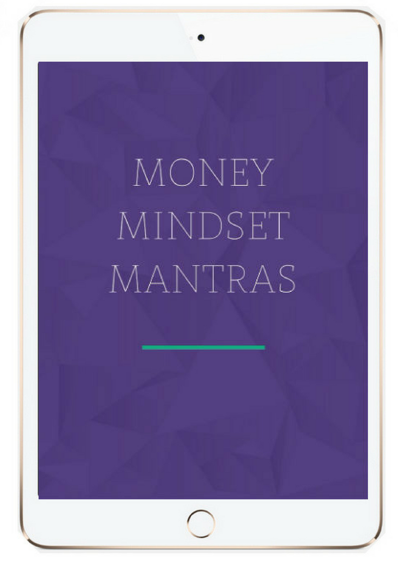 money mindset mantras workbook cover image